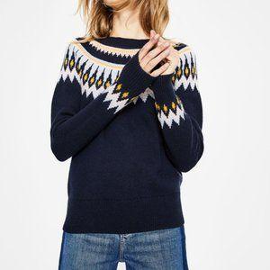 Boden Agnes Fair Isle Pattern Sweater